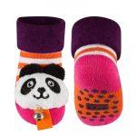 SOXO Panda macis baba csörgős zokni 16-17-18
