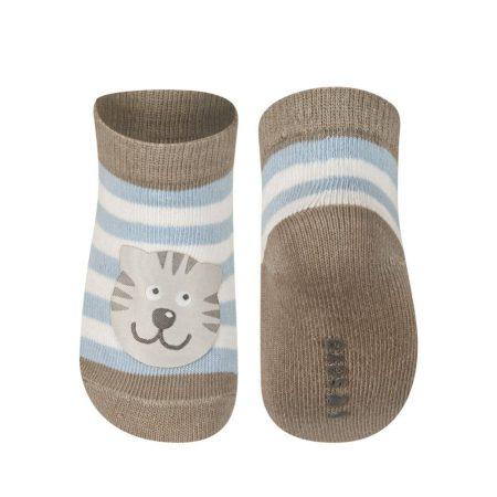 SOXO Csíkos baba zokni cicával 16-17-18