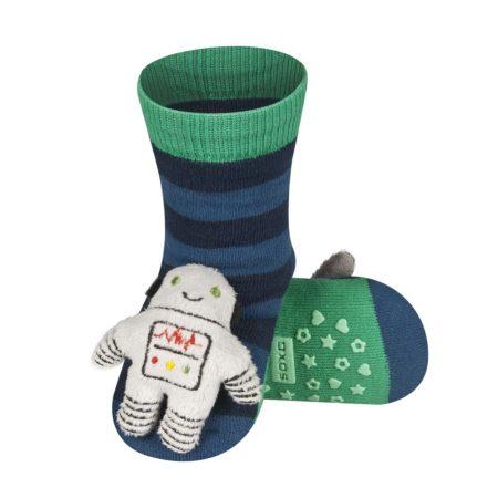 SOXO Űrhajós csörgős baba zokni csúszásgátlóval 19-20-21
