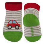 SOXO Autós csíkos baba zokni 16-17-18