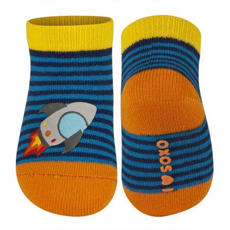 SOXO Rakétás csíkos baba zokni 16-17-18