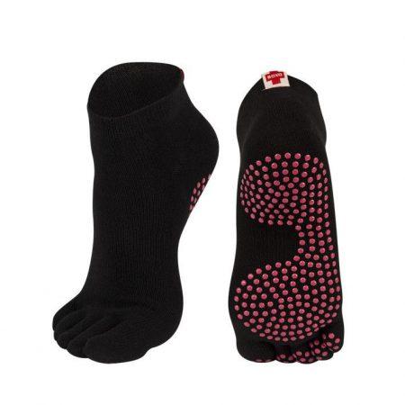 Női fekete jóga zokni