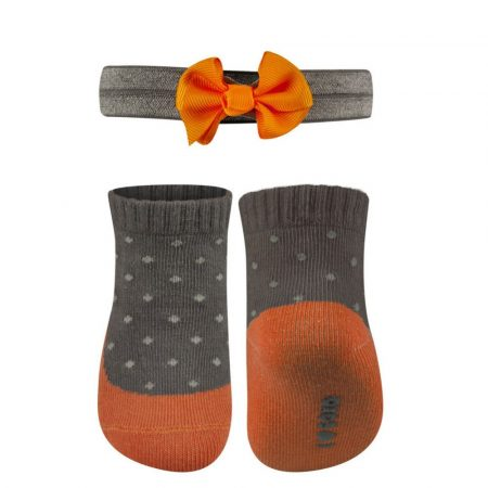 SOXO csíkos baba zokni masnis fejpánttal 16-17-18