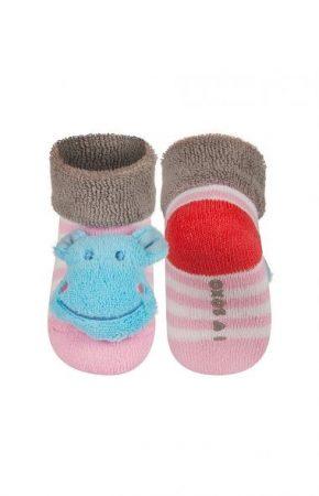 SOXO Vízilovas csörgős baba zokni 16-17-18