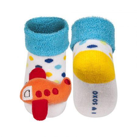 SOXO Repülős baba csörgős zokni 16-17-18