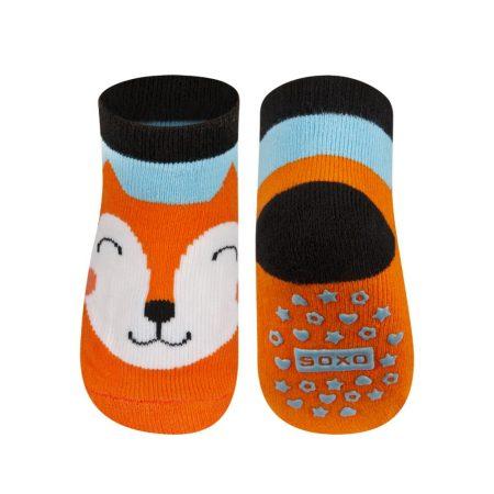 SOXO Rókás baba zokni csúszásgátlóval 16-17-18