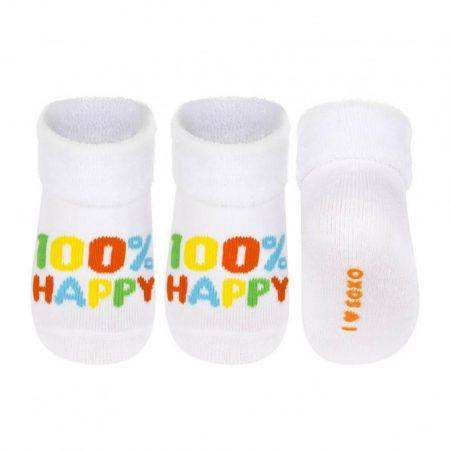 SOXO 100% HAPPY fehér baba zokni 16-17-18
