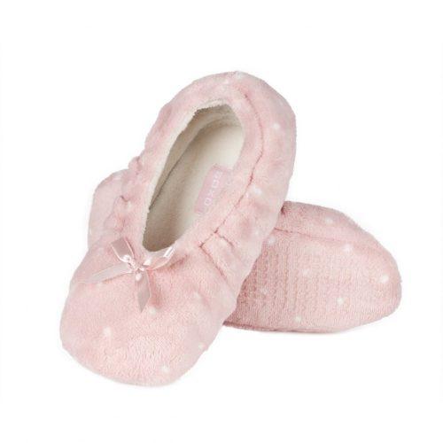 Rózsaszín női balerina mamusz puha talppal 36-37