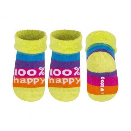SOXO 100% HAPPY színes baba zokni 16-18