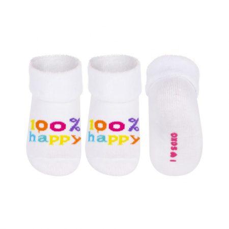 SOXO 100% HAPPY fehér baba zokni 16-18