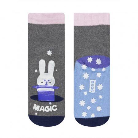 SOXO Sötétben világító, foszforeszkáló gyermek zokni 26-28 - Kalapos nyuszi
