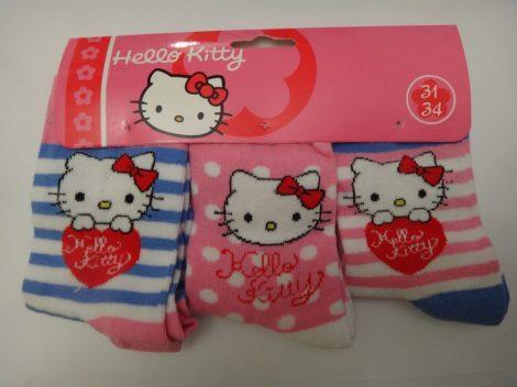 Hello Kitty gyerek zokni 31-34 3 PÁR